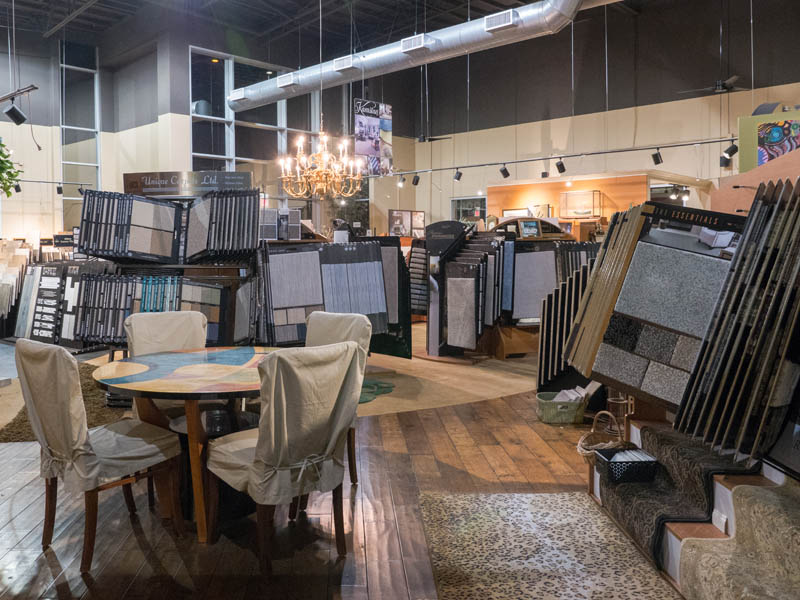 Oceanside Abbey Carpet's Showroom offers a huge selection of flooring samples to meet all of your floorcovering needs!